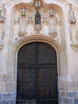 Melun - Collégiale Notre-Dame - Portail