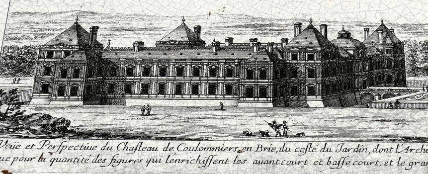 Château de Coulommiers - Dessin du château par Jean Marot (XVIIème siècle)