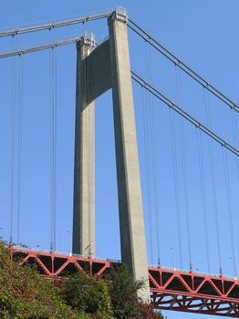 Pont de Tancarville - Situation après changement des câbles porteurs