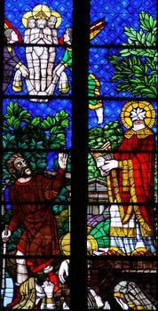 Saint-Denis - Basilique de Saint-Denis - Vitraux hauts du choeur: martyr de saint Denis