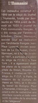 Saint-Denis - Ancien siège du journal «L'Humanité» - Panneau d'information