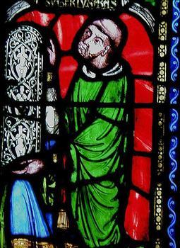 Suger - Vitrail à l'abbatiale de Saint-Denis