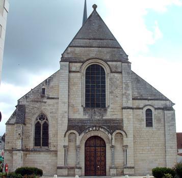 Selles-sur-Cher - Eglise Notre-Dame-la-Blanche (ancienne abbatiale Saint-Eusice) - Façade occidentale