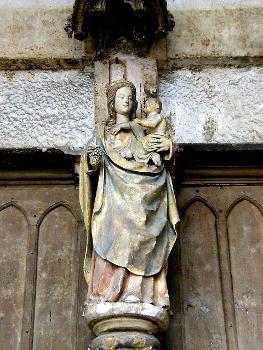 Eglise Notre-Dame, Semur-en-AuxoisVierge du portail central