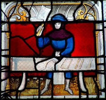 Eglise Notre-Dame, Semur-en-AuxoisVitrail des bouchers - Détail