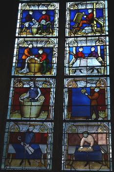 Eglise Notre-Dame, Semur-en-AuxoisVitrail des drapiers
