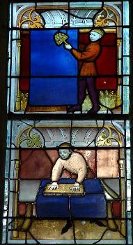 Eglise Notre-Dame, Semur-en-AuxoisVitrail des drapiers - Détail