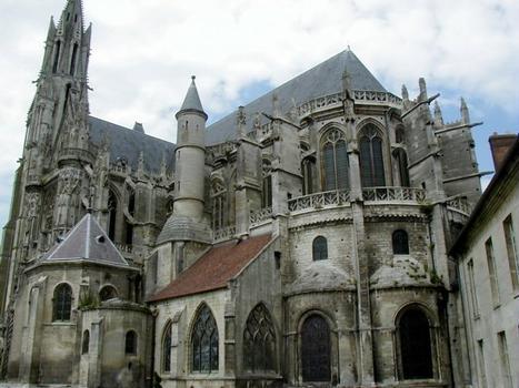 Cathédrale Notre-Dame de Senlis.Vue du chevet