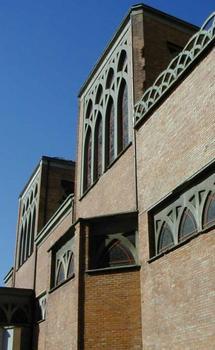 Saint-Jean-de-Montmartre Church. Exterior elevation of the nave.
