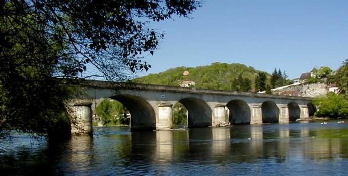 Pont de Louis Vicat à Souillac. Vue d'amont