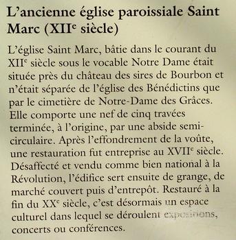 Ehemalige Pfarrkirche Saint-Marc, Souvigny