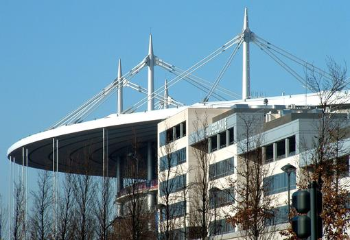 Saint-Denis - Stade de France - Haubanage de suspension de la toiture du stade