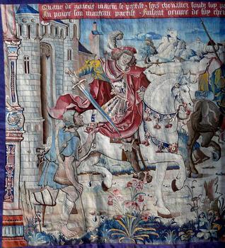 Montpezat-de-Quercy - Collégiale Saint-Martin - Choeur - Tapisserie flamande de la Vie de Saint Martin