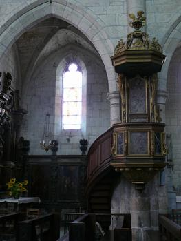 Montpezat-de-Quercy - Collégiale Saint-Martin - Chaire