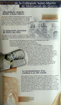 Montpezat-de-Quercy - Collégiale Saint-Martin - Panneau d'information