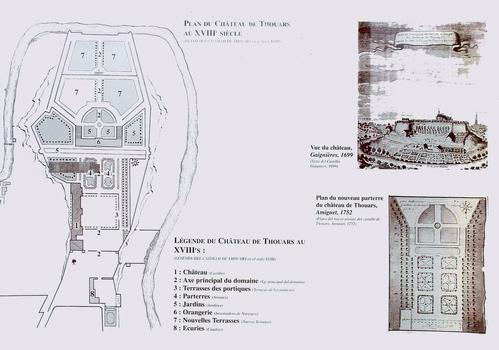 Thouars - Château (collège Marie-de-la-Tour-d'Auvergne) - Plan