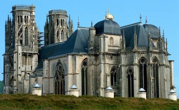 Cathédrale Saint-Etienne, Toul Vue au-dessus des fortifications