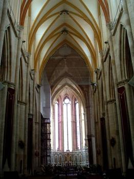 Cathédrale Saint-Etienne, ToulVaisseau central en cours de restauration