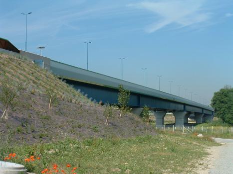 Pont sur la Seine, Triel-sur-Seine Ensemble vu de l'aval