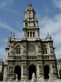 Eglise de la Trinité à Paris.Façade
