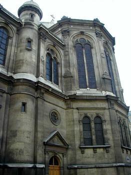 Eglise de la Trinité à Paris.Chevet