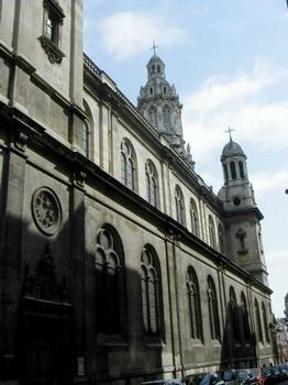 Eglise de la Trinité à Paris.Nef extérieur