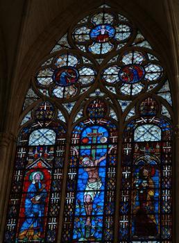 Troyes - Basilique Saint-Urbain - Vitrail du choeur