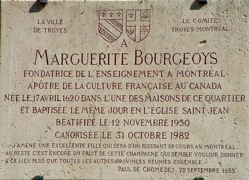 Troyes - Eglise Saint-Jean-du-Marché - Plaque commémorative