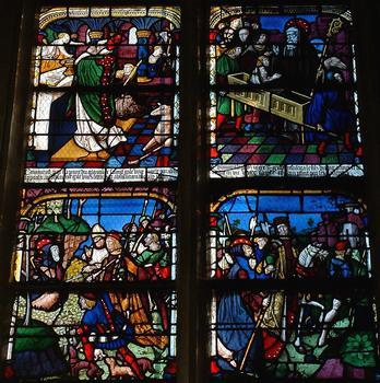 Troyes - Eglise Saint-Nizier - Vie de saint Gilles - Détail (vers 1520)