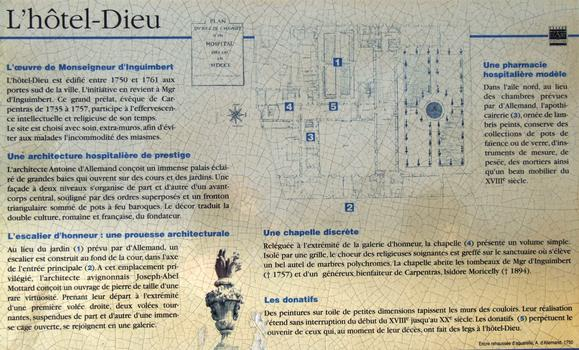 Carpentras - Hôtel-Dieu - Panneau d'information