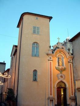 Ancienne Cathédrale de la Nativité-de-la-Vierge de Vence Façade rococo et entrée côté Sud