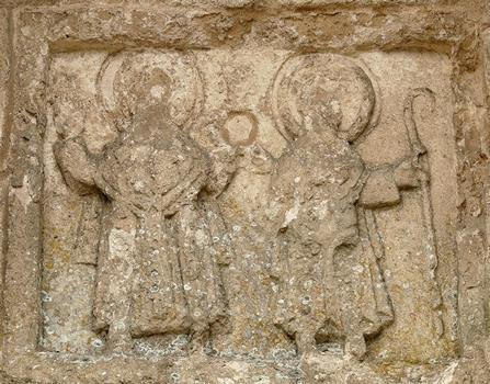 Luçon - Cathédrale Notre-Dame - Façade romane du bras nord du transept - Détail