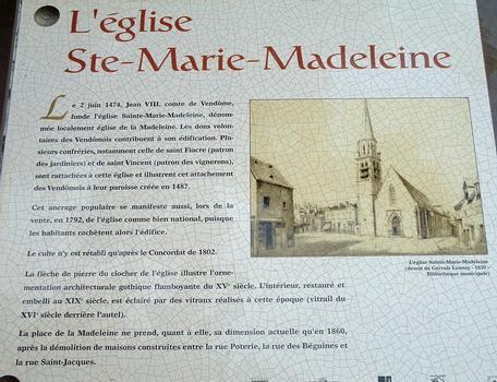 Vendôme - Eglise Sainte-Marie-Madeleine - Panneau d'information