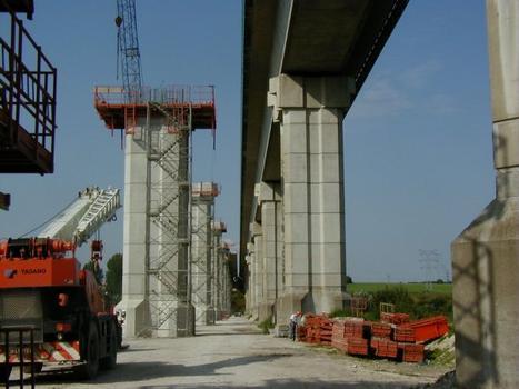 Deuxième Pont Jules Verne à Amiens (2002). Vue d'ensemble