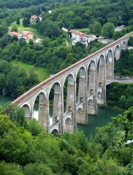 Ligne Bourg-en-Bresse à Bellegarde (ligne des Carpathes ou du Haut-Bugey) - Viaduc de Cize-Bolozon