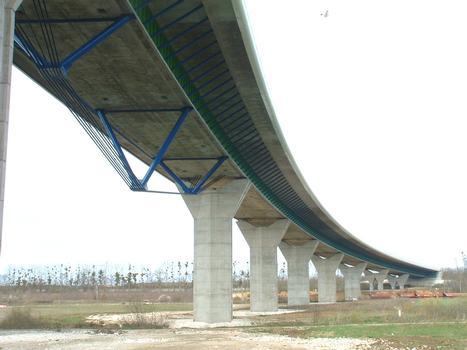 Viaduc de Meaux - Travée sous-bandée au-dessus de la Marne