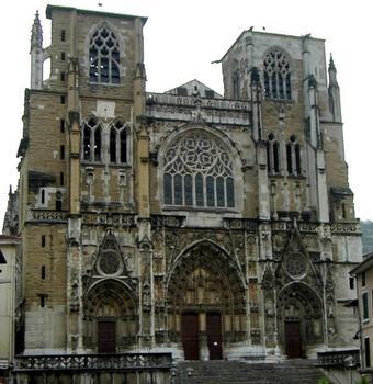 Cathédrale Saint-Maurice à Vienne. Façade occidentale