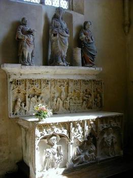 Eglise Saint-Etienne, Vignory. Rétables de la Passion et du Couronnement de la Vierge 15e s