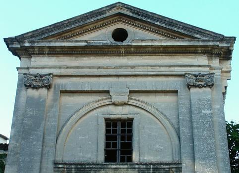 Viviers - Eglise Notre-Dame-du-Rhône - Façade - Fronton