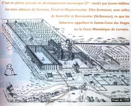Eglise abbatiale prémontrée Saint-Pierre - Panneau d'information - Projet de l'abbaye en 1735