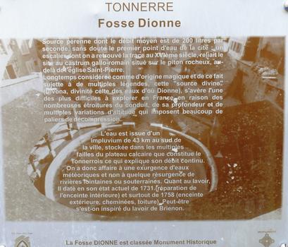 Tonnerre - Fosse Dionne - Panneau d'information