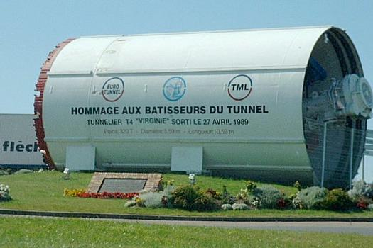 Tunnel boring machine (TBM) T4 'Virginie' used in the construction of the EuroTunnel.