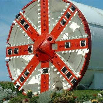 Tunnel boring machine (TBM) T4 'Virginie' used in the construction of the EuroTunnel