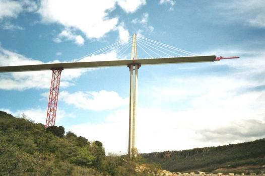 Viaduc de Millau Vue du tablier nord