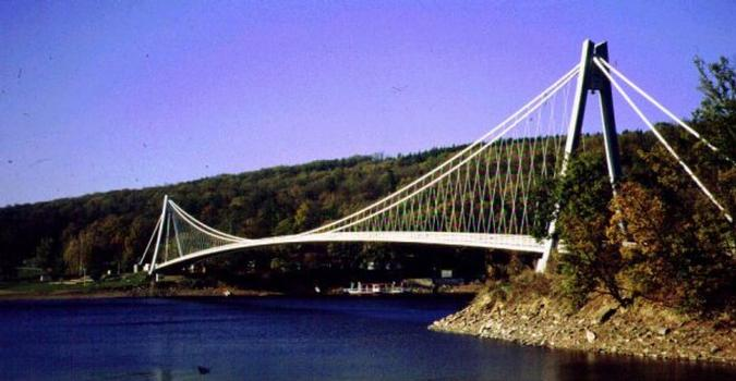 Swiss Bay Bridge over the Vranov Lake, Czech Republic