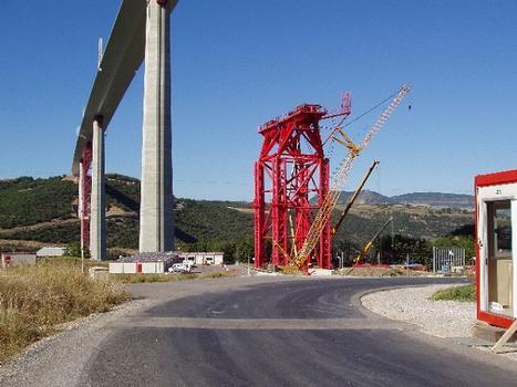 Viaduc de Millau. Palet P3 descendu dans ses vérins