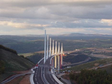 Millau Viaduct at sunset