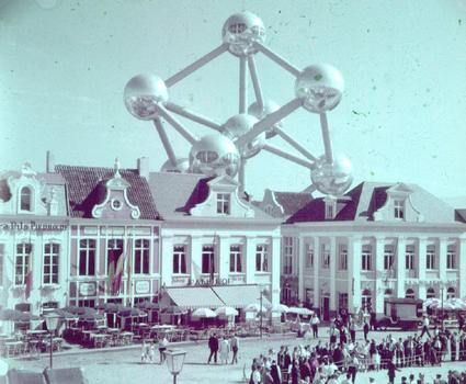 The Atomium, the centrepiece of the World Exposition of 1958 in Brussels