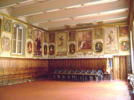 La salle des Etats de Provence (18e siècle) au premier étage de l'Hôtel de Ville d'Aix-en-Provence
