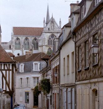L'abbaye (gothique) de Saint Germain à Auxerre (Yonne)